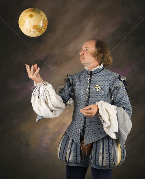 Shakespeare tossing globe. Stock photo © iofoto
