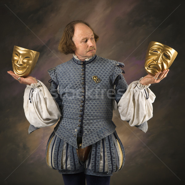 Shakespeare with theatrical masks. Stock photo © iofoto