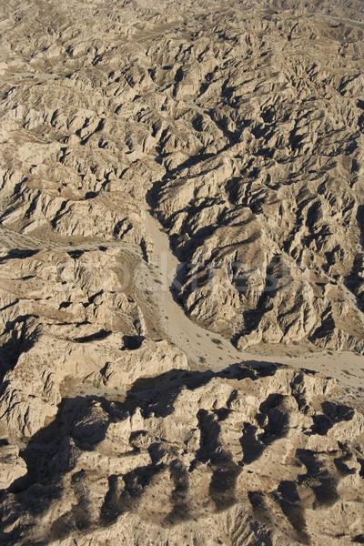 Egyenetlen terep légifelvétel délnyugat szem tájkép Stock fotó © iofoto