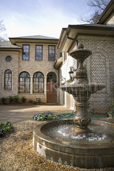 Home with fountain. Stock photo © iofoto