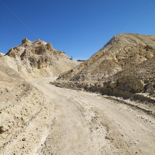 Halál völgy út földút terméketlen tájkép Stock fotó © iofoto