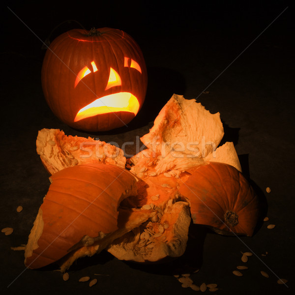 Smashed pumpkin. Stock photo © iofoto