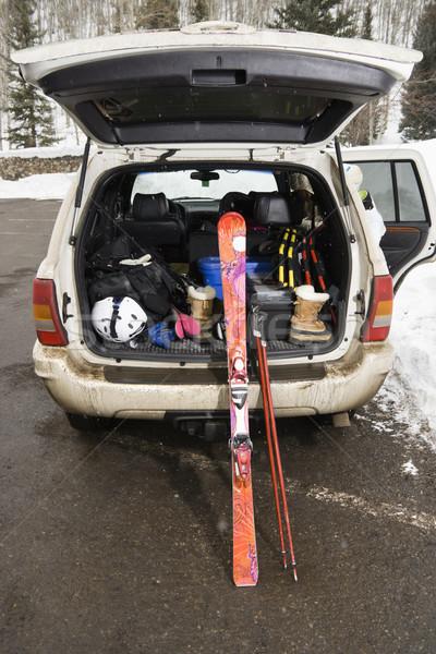 Vehicle with skis. Stock photo © iofoto