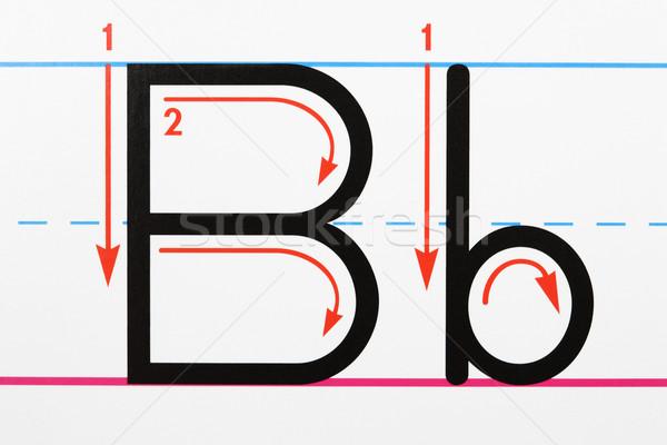 Foto stock: Carta · letra · prática · página · papel
