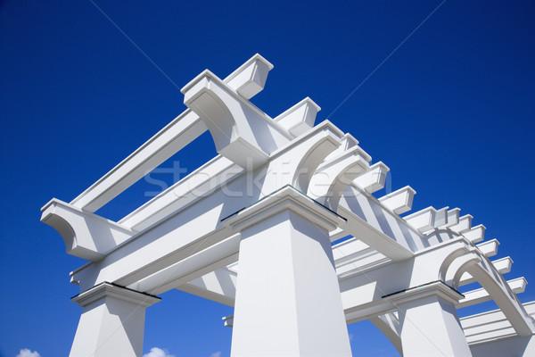 White arbor. Stock photo © iofoto