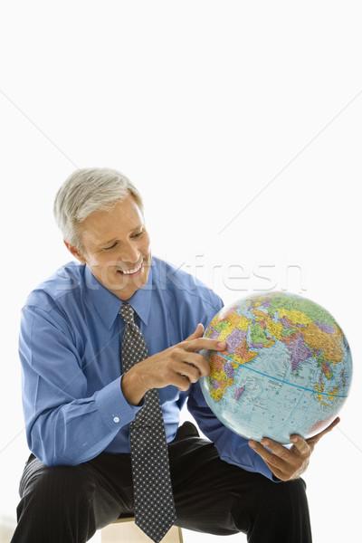 ストックフォト: 男 · ポインティング · 世界中 · 白人