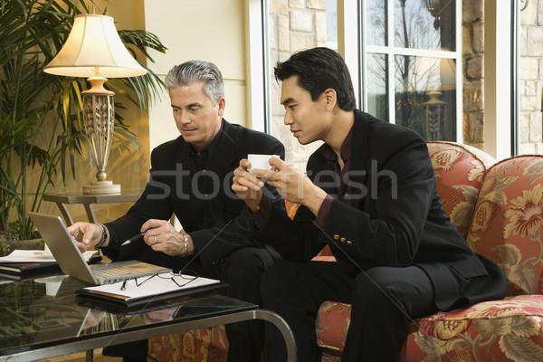 Two businessmen at hotel. Stock photo © iofoto
