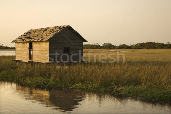 Building in marshy wetland. Stock photo © iofoto
