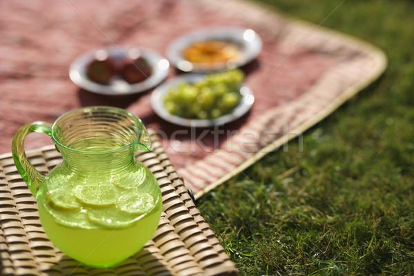 Pitcher of lemonade. Stock photo © iofoto