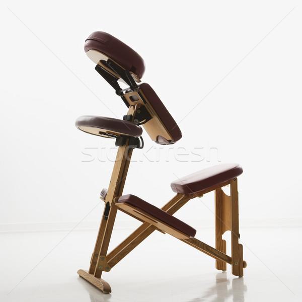 Masaj sandalye natürmort renk sağlıklı yaşam kare Stok fotoğraf © iofoto