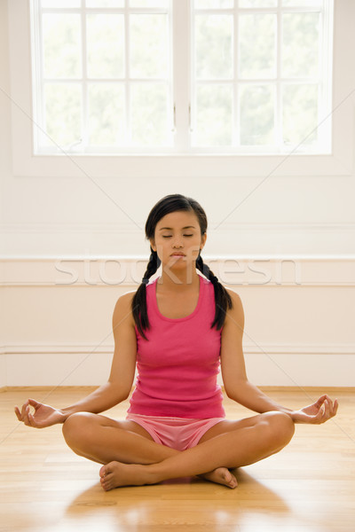 Meditating woman Stock photo © iofoto