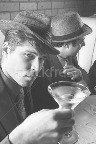 Men drinking at bar. Stock photo © iofoto