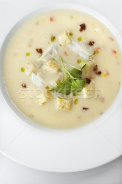 Leves tál étel szín ebéd étel Stock fotó © iofoto