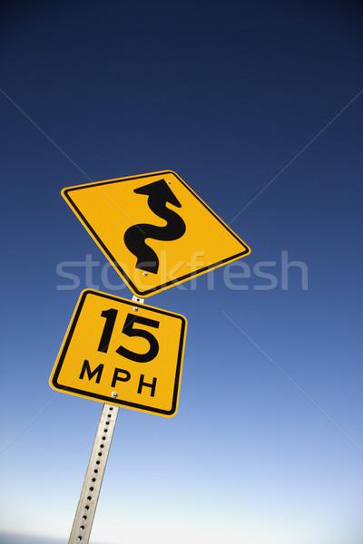 дороги второй знак 15 Сток-фото © iofoto