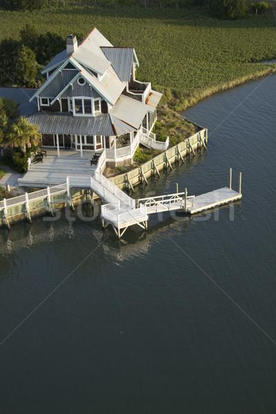 Coastal home with dock. Stock photo © iofoto