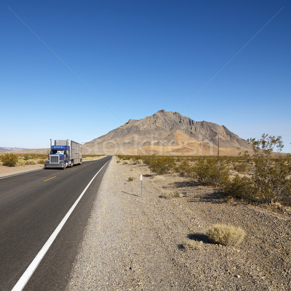 Truck on desert road. Stock photo © iofoto