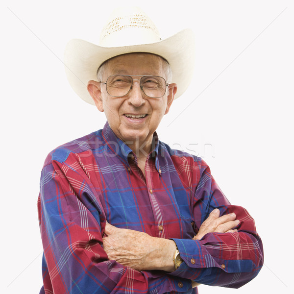 Stock photo: Man in cowboy hat.