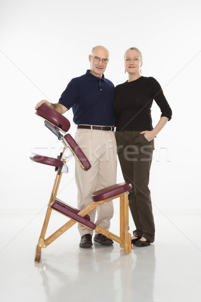 Masażu mężczyzna terapeuta stałego Zdjęcia stock © iofoto