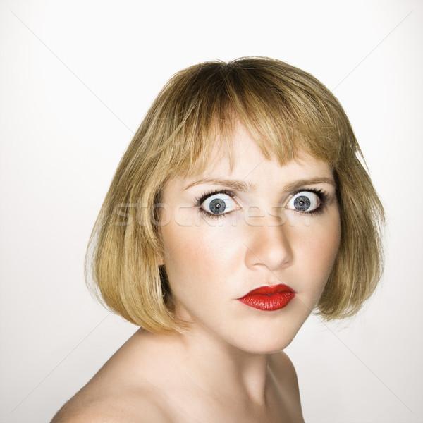женщину глядя путать портрет молодые блондинка Сток-фото © iofoto