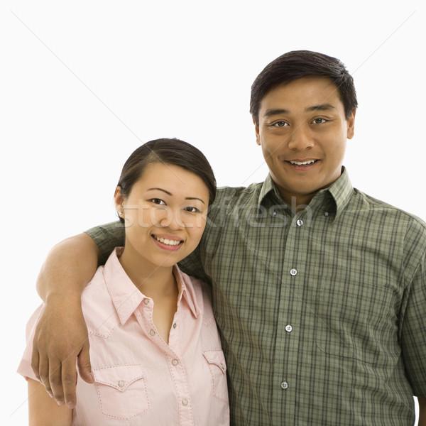 Smiling Asian couple. Stock photo © iofoto