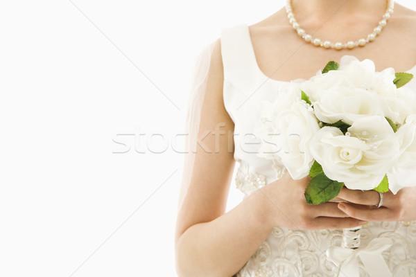 Bruid boeket shot asian Stockfoto © iofoto