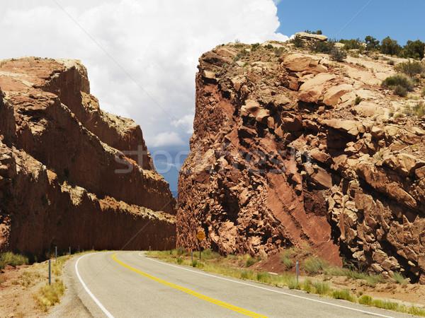 Road through mountain. Stock photo © iofoto