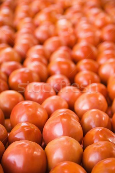 Domates üretmek pazar kırmızı meyve Stok fotoğraf © iofoto