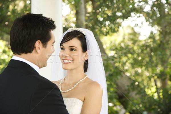 Happy Newlywed Couple Stock photo © iofoto