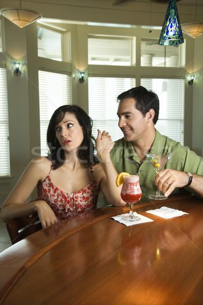 Couple Having Drinks Stock photo © iofoto
