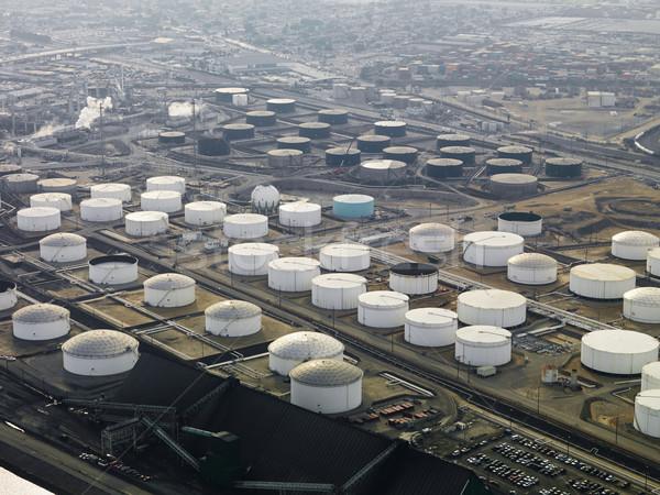 Refinería de petróleo aéreo líquido almacenamiento Los Ángeles Foto stock © iofoto