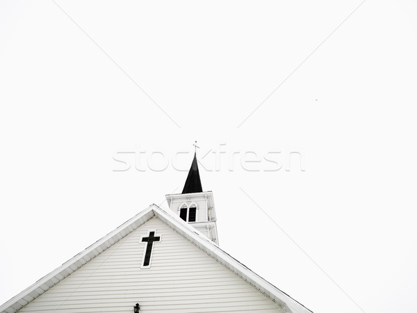 White church with steeple. Stock photo © iofoto