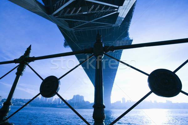 Puente Sydney Australia vista puerto anochecer Foto stock © iofoto