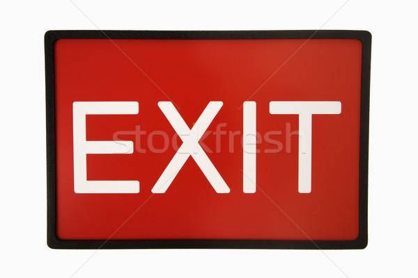 Exit sign. Stock photo © iofoto