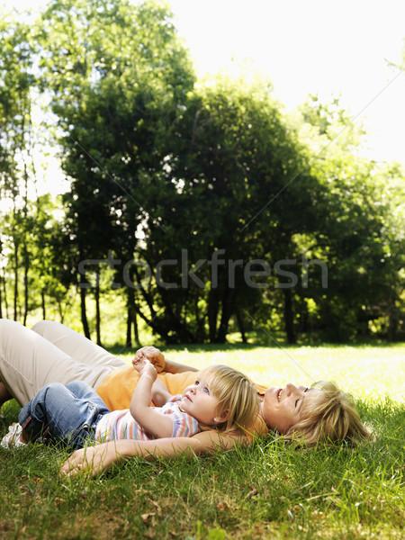 Mamá nino parque caucásico adulto mujer Foto stock © iofoto