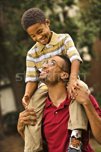 Dad carrying son Stock photo © iofoto