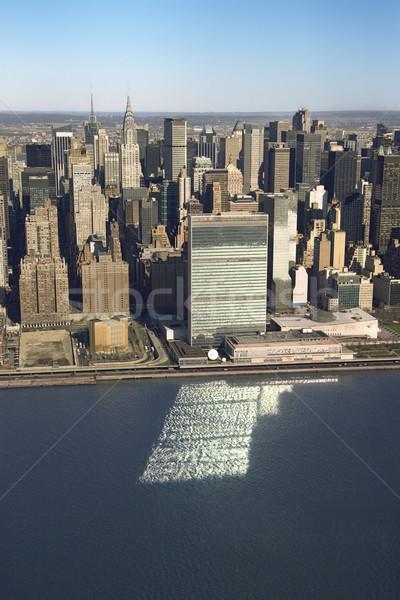 Manhattan Нью-Йорк здании путешествия зданий Сток-фото © iofoto