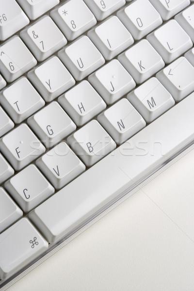 Közelkép számítógép billentyűzet fehér függőleges lövés számítógép Stock fotó © iofoto