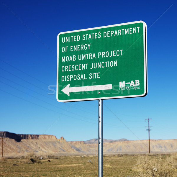 Disposal site sign. Stock photo © iofoto
