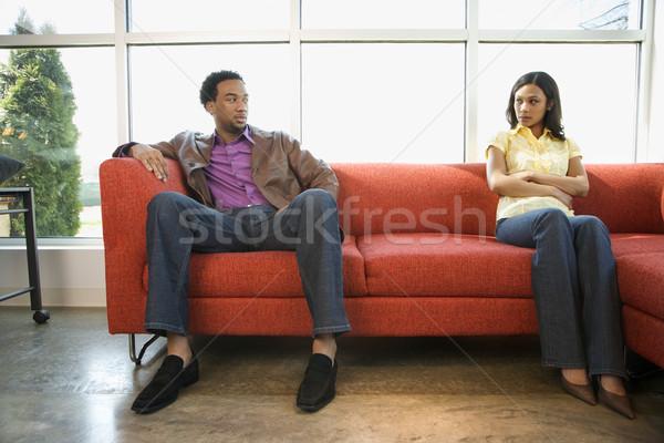 Disputing couple. Stock photo © iofoto