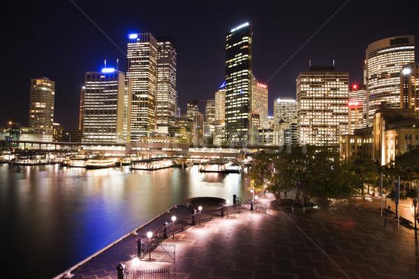 Sydney Australia horizonte paisaje urbano puerto edificios Foto stock © iofoto