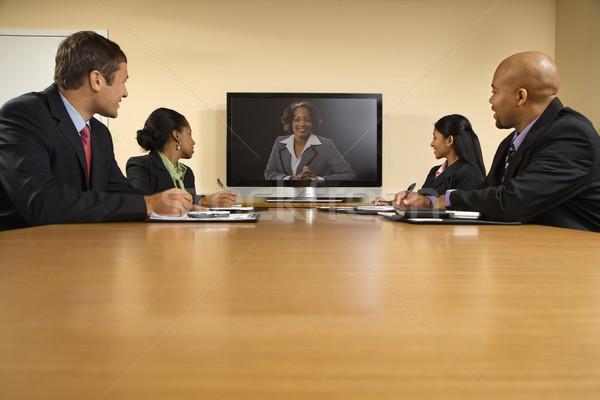 Business presentatie vergadering conferentie tabel Stockfoto © iofoto