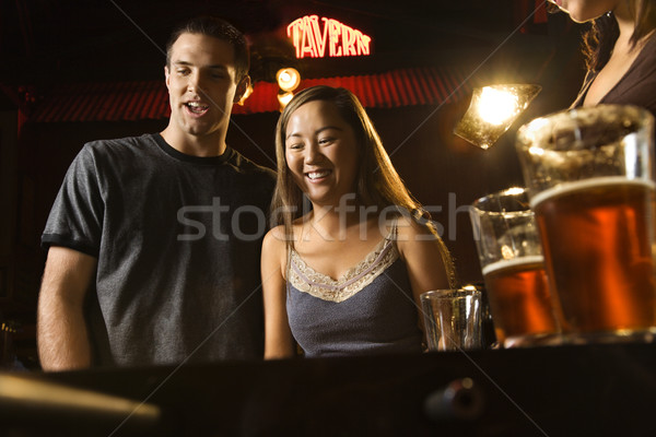 Couple at bar. Stock photo © iofoto