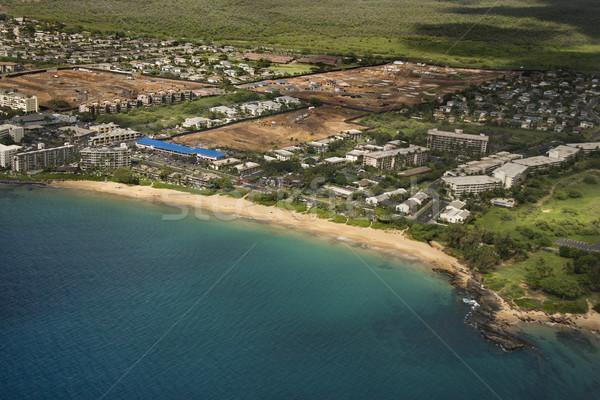 Costa Havaí edifícios praia Foto stock © iofoto