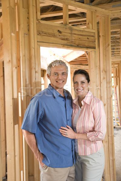 Couple Building Home Stock photo © iofoto