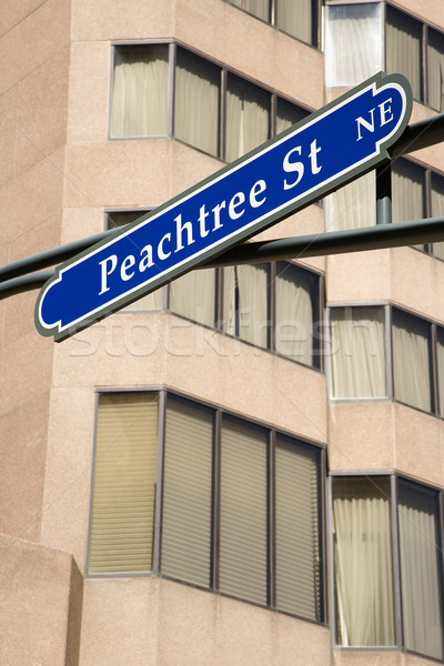 Atlanta straat teken verkeersbord centrum Georgië stedelijke Stockfoto © iofoto