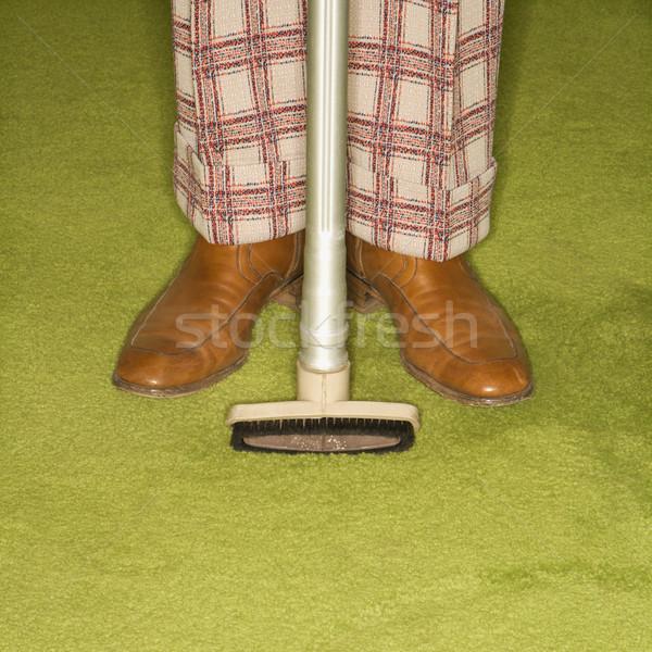 Adam temizlik ev kafkas erkek Stok fotoğraf © iofoto