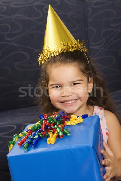 Girl celebrating birthday. Stock photo © iofoto