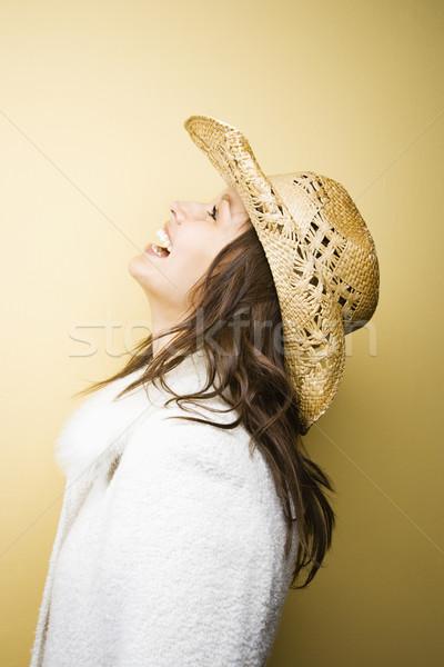 женщину ковбойской шляпе профиль кавказский Сток-фото © iofoto