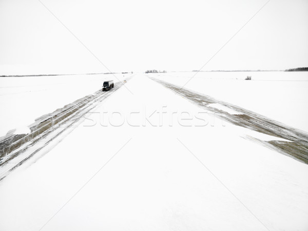 Highway in a winter storm. Stock photo © iofoto