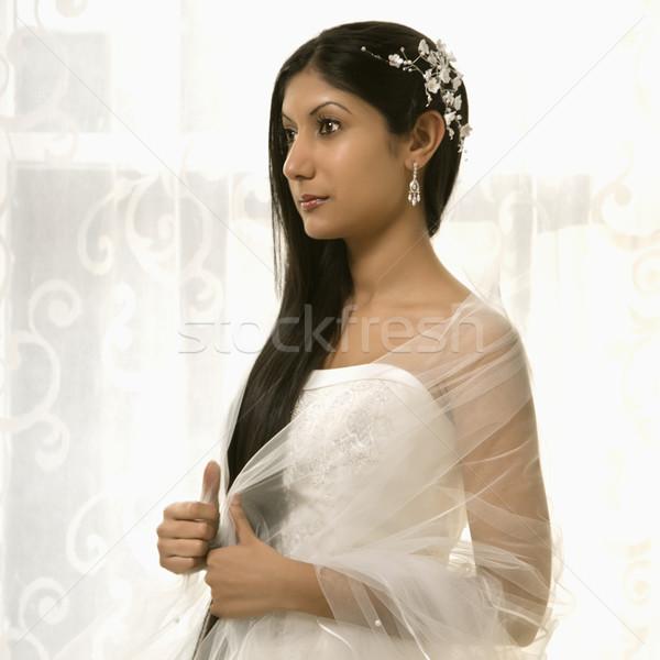 Portret indian bruid vrouw bruiloft Stockfoto © iofoto